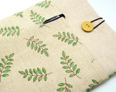 SALE - iPad Air case, iPad cover, iPad sleeve with 2 pockets, PADDED - Garden leaves (107)