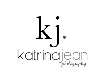 Photography Logo and Watermark - Premade Initials Logo Design, Customizable