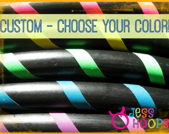 CHOOSE your COLOR - BUDGET Hula Hoop - Collapsible Travel Beginner Hula Hoop - Weighted - Any Color