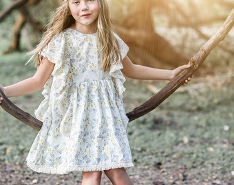 NEW: Odette Top Dress PDF Pattern & Tutorial, All sizes 2-10 years included