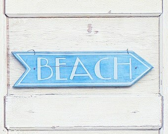 Beach Sign Photography- Beach House Sign, Beach Sign Print, Aqua Blue or Pink, Beach House Decor, Coastal Wall Art, Beach Art, Coastal Chic