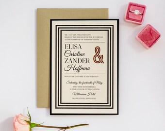 Suit & Tie Wedding Invitation