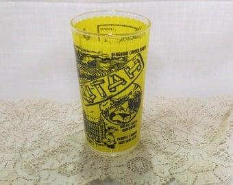 Vintage Utah Souvenir Tumbler Glass Kitchenware Kitchen Ware Hazel Atlas