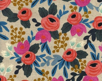 Rosa Floral / Les Fleurs Collection / Rifle Paper Company for Cotton and Steel