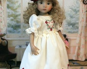 SALE Embroidered Heirloom Dress and Hat for Dianna Effner 13 Inch Little Darling Doll