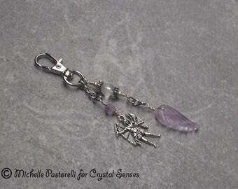 Angelic Gemstone Amulet Hanging Charm - Bag Charm, Key Chain, Car Mirror Mobile Charm (AMC0008)