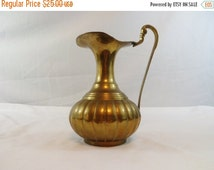 Vintage brass pitcher hand made in India Brass Pitcher, Vintage Decorative Pitcher, Solid Brass Vase, Brass Accents, Home Decor,