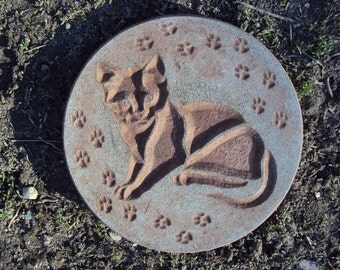 Cat, Stone Wall Hanging, Inside, Outside, Shipping Included