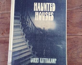 Journal, Haunted Houses vintage repurposed Journal