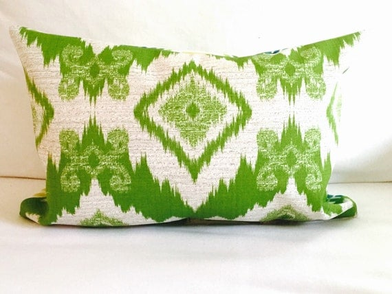 pillows ikat pillows outdoor chair pillows yellow green decorative