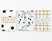 Pack of three tea towels by Depeapa