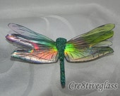 Sparkling Iridescent resin Dragonfly for brooches, pendants, magnets , craft projects, mirror decoration, unique gift, nature lover