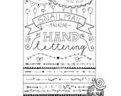 Snailmail magazine Handlettering