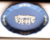 Vintage Wedgwood Blue Trinket Tray Plate Excellent Condition Beautiful Gift