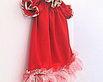 Red dress, ruffles, red valentines dress, fancy red dress,