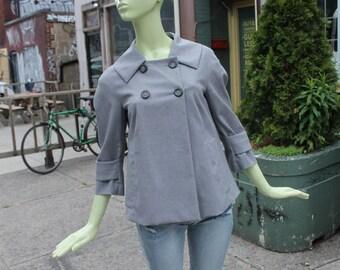 Vintage 1990s Pendleton Grey Light Jacket or Blazer Small Medium