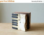 ON SALE Rustic home decor Jewelry storage and organization gift for her romantic piano music box with black keys, gift for he
