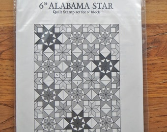 "6"" ALABAMA STAR Quilt stamp set"