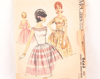 1960s McCall's 6223 // full skirted dress