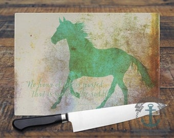 Glass Cutting Board - No Hour of Life is Wasted | Churchill Quote Pet Decor | Small or Large Kitchen Art for Your Countertop.