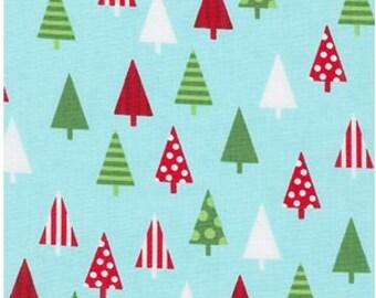Christmas Trees on Aqua from Robert Kaufman's Jingle 4 Collection by Ann Kelle