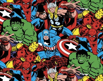 Marvels Avengers Comic Pack Fabric from Springs Creative