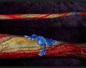 Hand made didgeridoo with sculpted frog on it