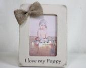 Poppy Gift Personalized Poppy Frame I Love My Poppy, Grandchild to Grandparent Gift, Christmas Gift