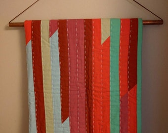Copper and Leather Quilt Hanger
