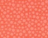 Fat Quarter fabric for quilt or craft Michael Miller Hash Dot in Papaya Fat Quarter