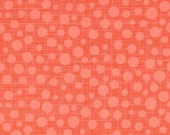 Michael Miller fabric by the yard Hash Dot in Papaya 1 Yard