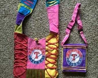 "Handmade "" Texas Ranger"" messenger and travel bag (Set of 2 bags)"
