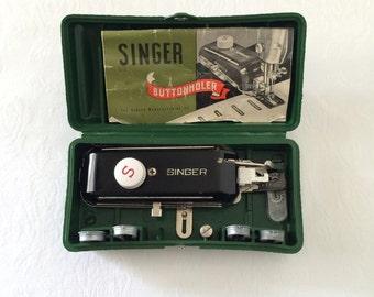 Vintage 1948 Singer Buttonholer Singer Sewing Attachments Machine Parts Singer 160506 Lock Stitch Sewing Machines