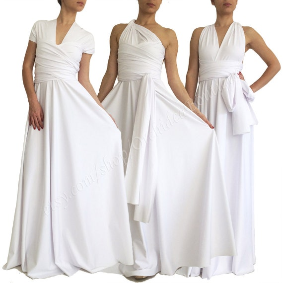 Белое платье трансформер