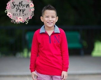 Boy's or Girl's Monogrammed Pullover - Monogrammed Pullover - Boy's or girl's jacket - Fall outfit - Winter Jacket - Monogrammed Jacket