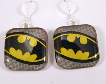 Batman Glass earrings