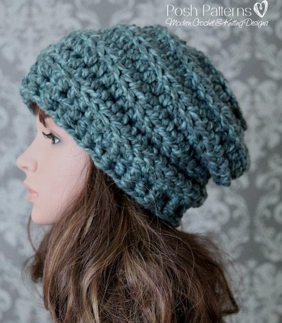 Crochet Pattern Crochet Hat Pattern Crochet Slouchy Hat