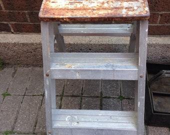 Vintage aluminum step ladder