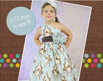 Paris' Party Dress PDF Sewing Pattern sizes 6/12 months to 8 girls