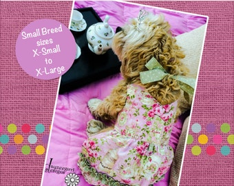 Anna's Sweetheart Halter Dress for Dogs PDF Pattern Sizes XS to XL