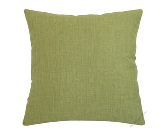 Olive Green Cosmo Linen Decorative Throw Pillow Cover / Pillow Case / Cushion Cover / 18x18""