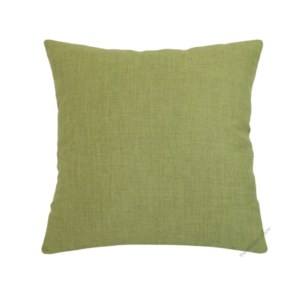Olive Green Decorative Pillow : Olive Green Cosmo Linen Decorative Throw Pillow Cover / Pillow