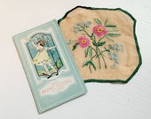Darling Vintage Paper Needle Case and Sweet Little Linen