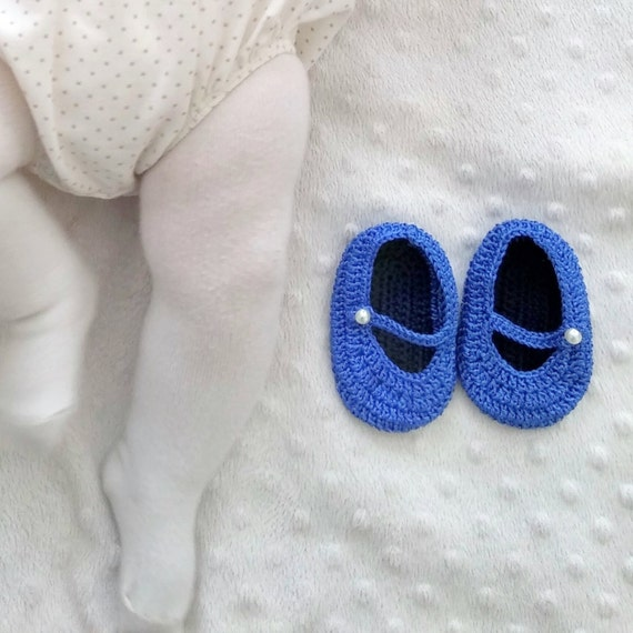 PDF Crochet Pattern - Baby Mary Janes