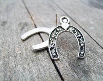 Horseshoe stud post earring ES13 solderedby CollectionsbyTracy Lucky earring horseshoe casino soldered earring silver horseshoe earring