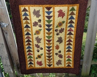 Fall Lap Quilt, Flying Geese and Signs of Fall Quilt 0901-03