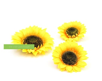 Sunflower Heads for Floral Wall and Party Backdrops - 3 Pack