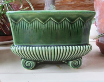 Vintage Herb Planter Green Carriage