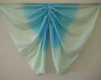 Dragonfly Wings Costume, Turquoise and Light Green Small Silk Butterfly Wings
