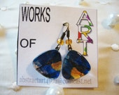 Miniature Abstract Art   Drop Earrings